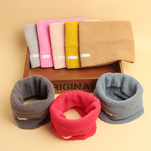 New Warm Lamb Wool Scarves Baby Girls Boys Scarf Solid Color Collar Scarves Children Toddlers Newborn Korean Winter Hat Snood
