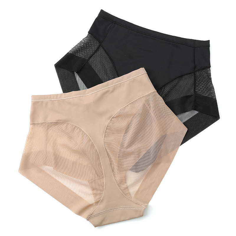 Hot Women Boyshorts Body Shaping Panties Female Pants High Elastic Control Briefs Seamfree Breathable Mesh Intimate