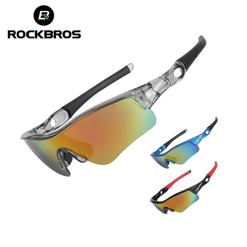 ROCKBROS Bike Polarized Glasses Eyewear Fish Goggles UV400 Sunglasses White Red