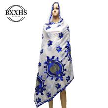 New Arrival African Women Scarfs Soft Cotton Scarf Big Embro