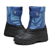 цена на SKHEK 2019 New Children Snow Boots Girls Shoes Kids Winter PU Leather Boots Fashion Plush Water-Proof Boys Sneakers 945
