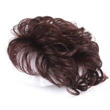 Дешево Человеческие Волосы Парики% 2Ftoppers Машинное Натуральное Парик Волосы для женщин Парик Зажимы Реми Человеческие Волосы Парик для Женщин Кудрявые