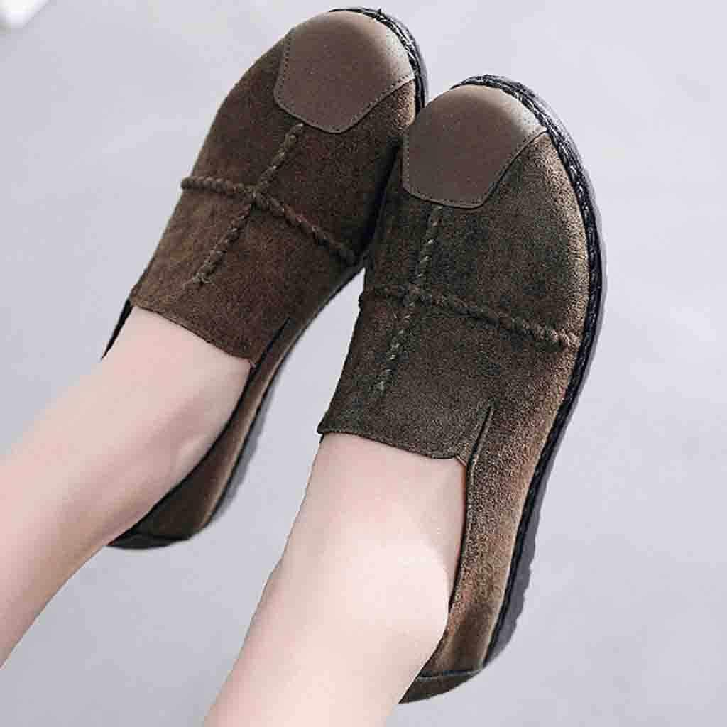 """Sagace Plus Size 35-43 Đế Phẳng 2019 Cho Nữ Kẹo Màu Trơn Trượt Trên Flat Thoải Mái Nữ Giày zapatos Mujer """"S9"""