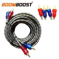 오디오 앰프 자동차 오디오 변환 케이블 트위스트 페어 오디오 케이블 5 m 순수 구리 와이어 코어 rca 케이블 cable male cable male to malecable amplifier -