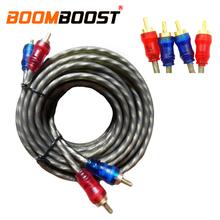 Wzmacniacz Audio samochodowy sprzęt Audio przewód do konwersji skrętka kabel Audio 5 M czysty drut miedziany rdzeń kabel rca tanie tanio PolarLander Linia róg