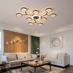 Nowoczesny żyrandol Led do salonu sypialnia jadalnia światło do pokoju nabłyszczania de teto nowoczesny żyrandol oprawa 110V 220V|Żyrandole|   -