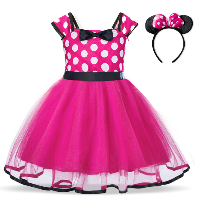 Baby Birthday Dress Girls Christmas Dress Baby Girl New Year Dress Up Clothes Birthday Party Polka Dots Casual Wear Vestidos 2