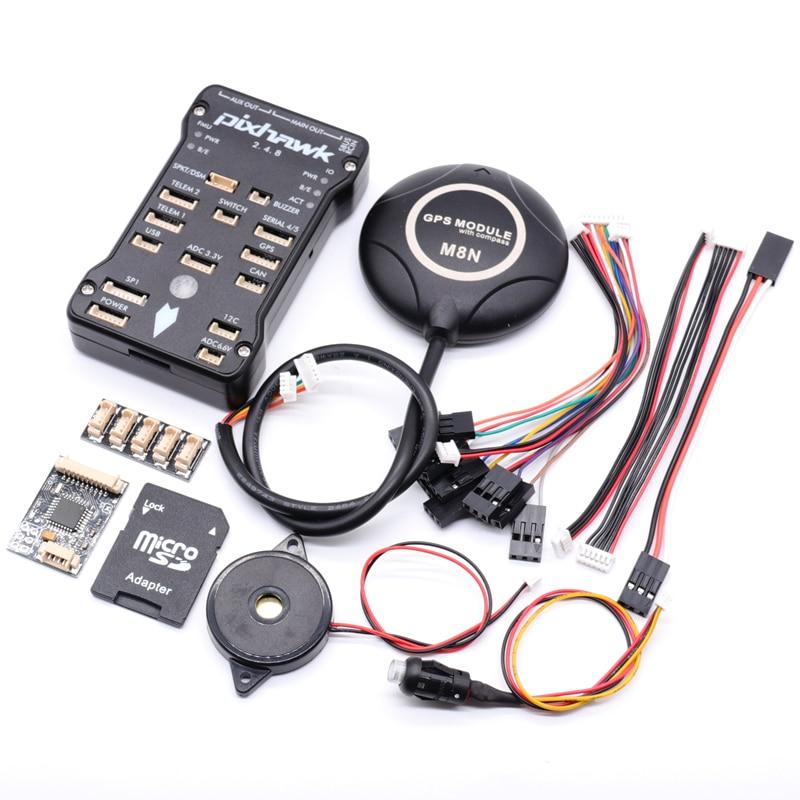 Pixhawk2.4.8 PIX PX4 32 Bit Autopilot Flight Controller GPS M8N w/4G SD Safety Switch Buzzer+PPM+I2C for DIY RC Drone Multirotor