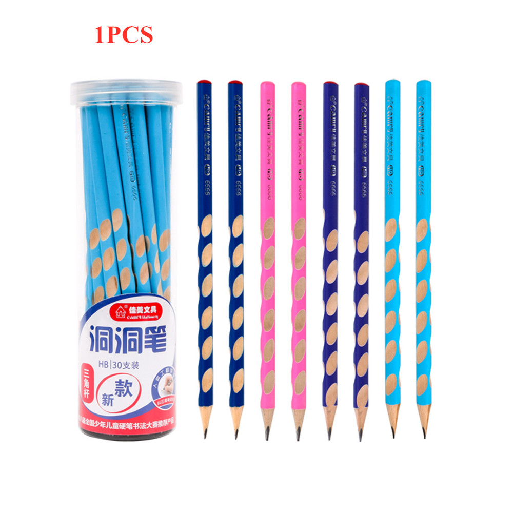 1Pc HB Kawaii Wooden Lead Pencils Creative Hole Pencil For Kids Gifts School Office Supplies Novelty Stationery Correction Tools
