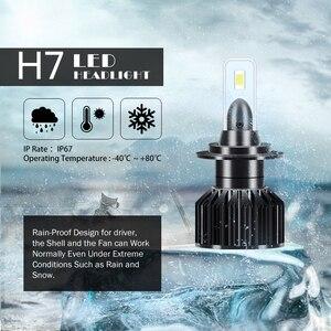 Image 5 - 2 шт., Автомобильные светодиодные лампы H4 H7 6000 лм 6500k 100 k 3570 Вт 12 В 9005 чипов H1 H11 9006 HB3 HB4