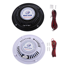 2 Pieces Waterproof Speaker Sound Auto Modified Horn Round Flush Fitting