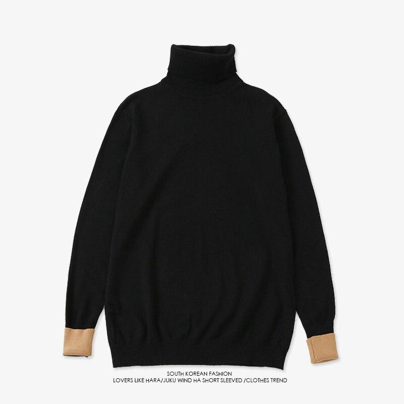 Kpop Bangtan garçons pull en laine noir JIMIN même col roulé automne hiver unisexe à manches longues chandails tricotés vêtements d'extérieur