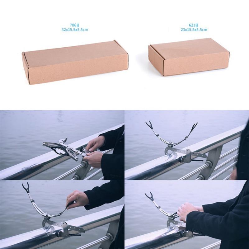 Boat Deck Mount Universal Clamp-On 0-5cm Heavy Duty Fishing Pole Rod Holder