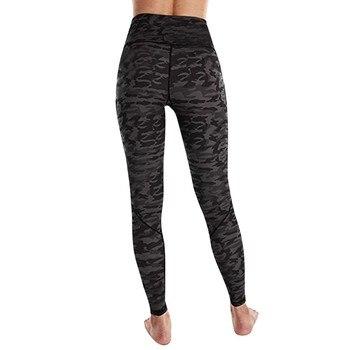 Women Leggings Pockets Leopard Printed Hips Fitness Casual Horts Yo-ga Pants High Waist Workout Leggings Running Pants брюки жен 2