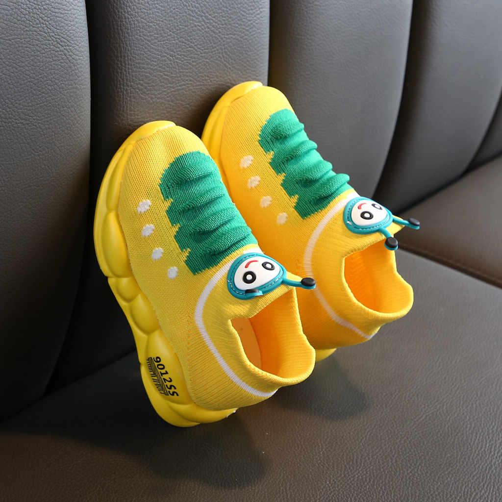 Zapatillas de deporte Unisex para correr para bebés, niñas y niños, zapatos de malla elástica, de dibujos animados para Niños, moda, confort, tenis infantil, menino