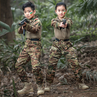 Kids Military Soldier Special Forces Camouflage Jackets Children Tactical Army Disguise Uniform Hunting Clothing Set Combat Suit