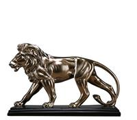 Ferocious Lion Sculpture Statue Resin Domineering Animal Lion Home Decoration Accessories Craft Gift Statue