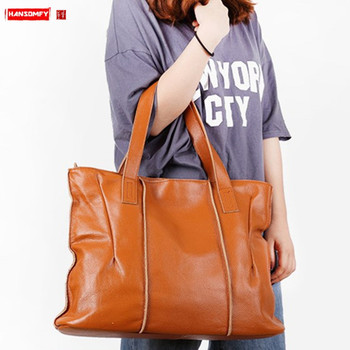The first layer cowhide Women bag large capacity handbags female 2019 new shoulder bag ladies soft leather shopping tote bags