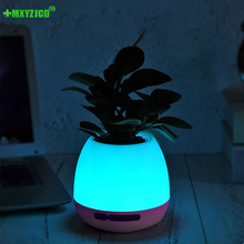 Plastic Vase Flower-Pot Music-Potted Home-Decoration-Accessories Touch-Plant Colorful
