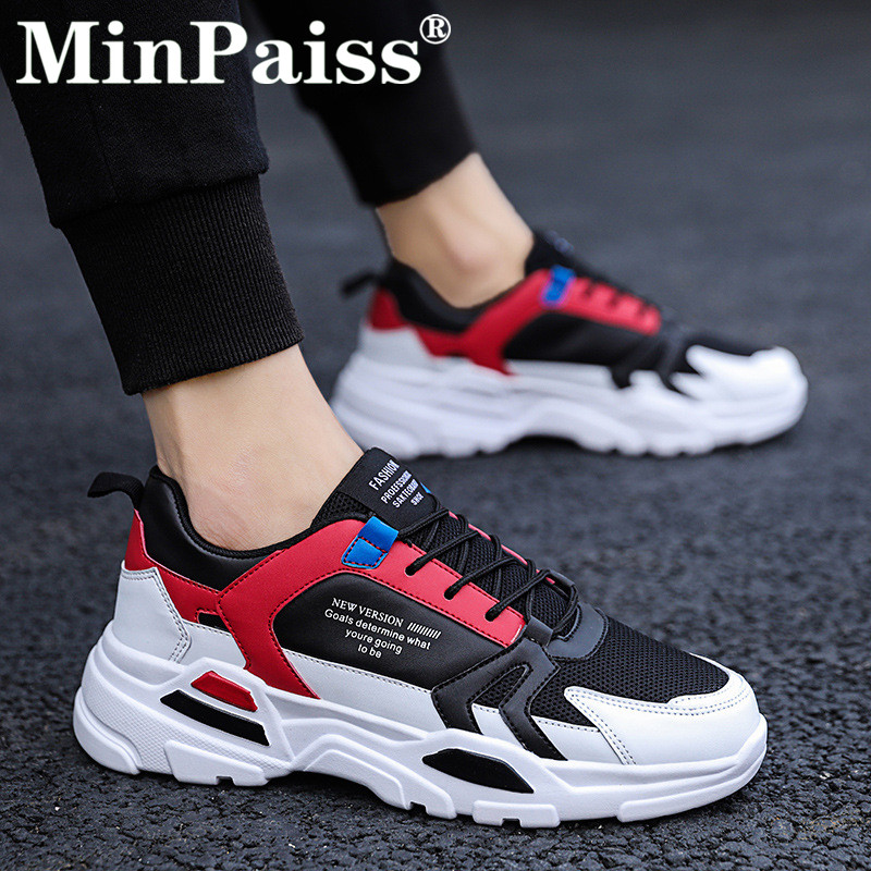 New Spring Autumn Casual Shoes Men  Sneaker Trendy Comfortable Mesh Fashion Lace-up Adult Men Shoes Zapatos Hombre