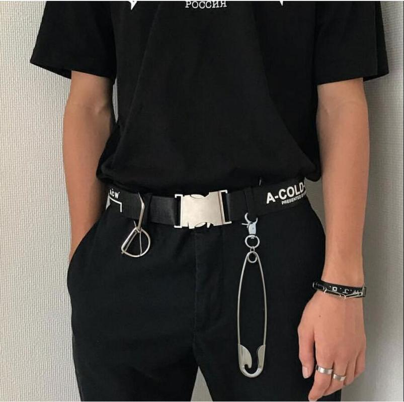 Helisopus Unisex Punk Metal Wallet Belt Waist Chain Retro Hipster Pin Ring Clip Men's Hip Hop Jewelry Pants Jeans Accessories