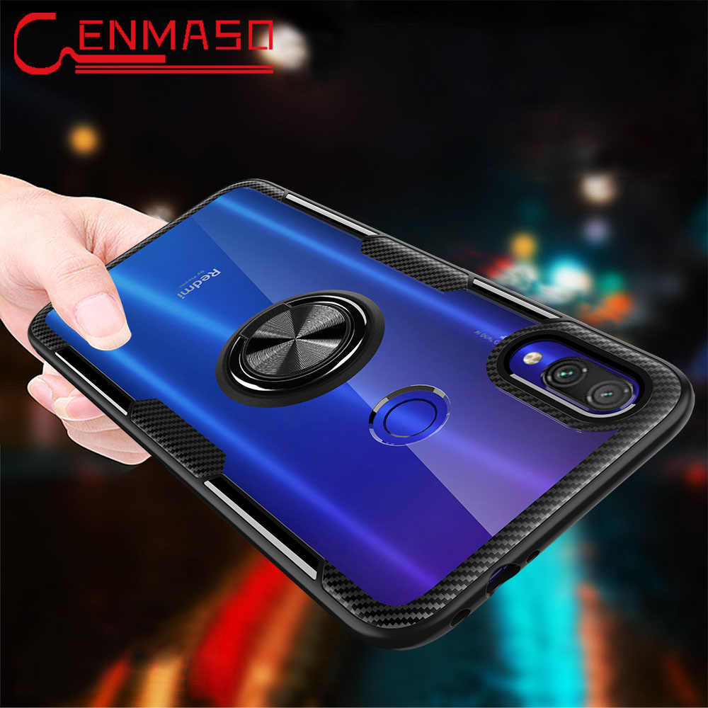 For Xiaomi Redmi Note 7 8 Pro Case Clear Armor Back Cover For Xiaomi Redmi 7 K20 Magnetic Car Holder Mi 8 Lite 9T Mi9 9 SE Case