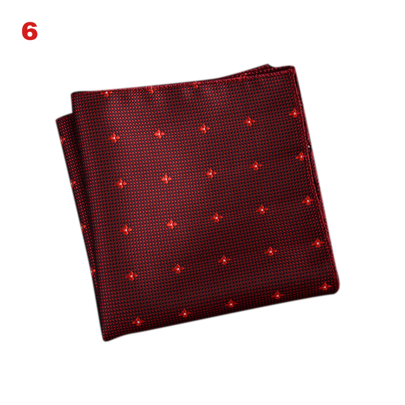 Men's Handkerchief  Striped Floral Printed Hankies Polyester Business Pocket Square Chest Hanky NIN668