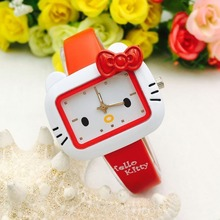 High Quality Children Watches For Girls Cartoon Leather Student Girl Wa