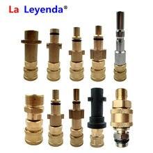 Laleyenda g1/conector rápido de 4 polegadas aos bocais para karcher K2-K7/nilfisk/bosche aquatak/lavor/elitech/huter/adaptador interskol