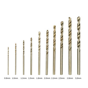 10pcs Twist Drill of 5 Specifications Straight Shank Hand Aiguille Special Drill bits for Drilling and Bearizing punching holes