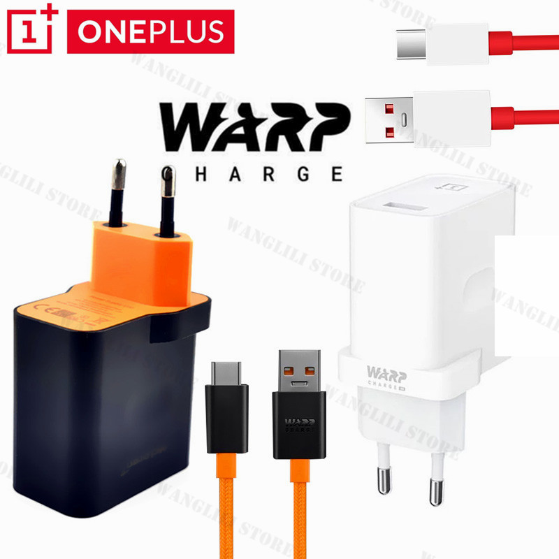 OnePlus 8 Pro Chargeur Rapide D'origine 30W chaîne dash charge UE USB adaptateur secteur 6A Usb Type c Câble pour un plus 8 7t 7 6t 6 5t 5