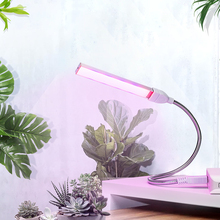 Usb portátil led cresce a luz dc5v 3w 5 phyto lâmpada de espectro completo desktop indoor estufa hidropônica flor planta crescer semeadura
