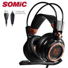 Somic 업그레이드 G941 능동형 소음 차단 7.1 가상 서라운드 사운드 USB 게임용 헤드셋 (마이크 포함)