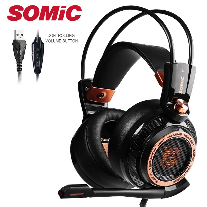 Somic Upgrade G941 Active Noise Cancelling 7 1 Virtual Surround Sound USB Gaming Headset with Mic Vibrating for PC Laptop