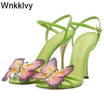 Hot Sexy Bowknot tacones altos sweety girls Zapatos sandalias con tacones de aguja mujeres 2020 verano mariposa sandalias correa de tobillo mujer 2020