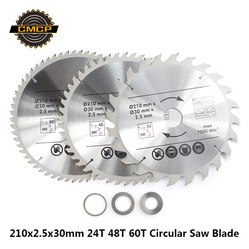 210x30mm Circular Saw Blade For Wood 24T 48T 60T 80T TCT Cutting Disc Carbide Woodworking Saw Blade
