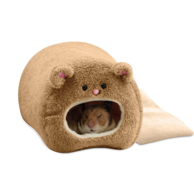 Lovely Rats Hamster Winter Warm Fleece Hanging Cage Hammock Cute House With Bed Mat For Small Furry Animals 2020 Dropshipping
