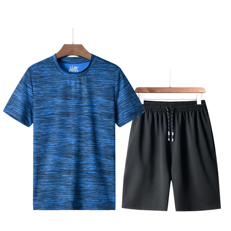 Fashion Shorts Set Men 2020 Summer 2pc Tracksuit Short SweatShirt + Shorts Sets Beach Mens Casual Tee Shirts Set Streetwear
