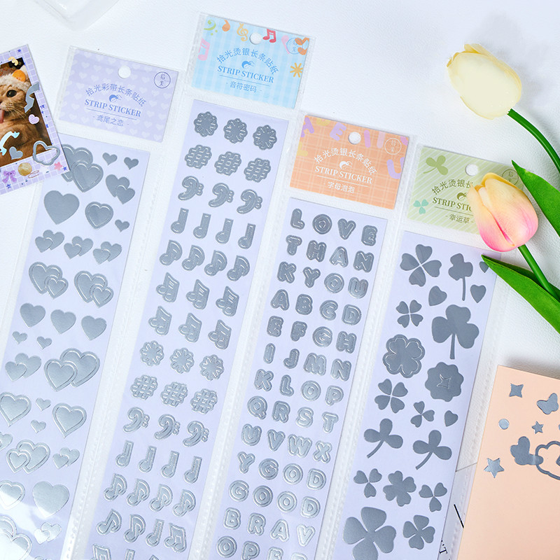 Mohamm 1Pcs Misstime Series Stickers Decoration Scrapbooking Paper Creative Stationary School Suppli