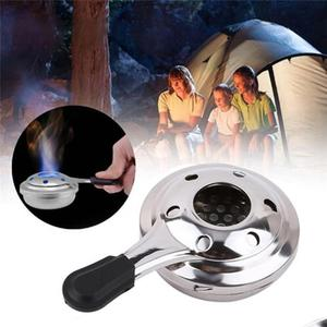 Portable Mini Picnic Burner Alcohol Stove Camping Outdoor Spirit Burner Alcohol Convenient Hiking Alcohol Lamp Stainless Case
