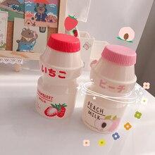 Water-Bottle Strawberry Plastic Anti-Fall Portable Kids Cute Kawaii Leakproof 480ml