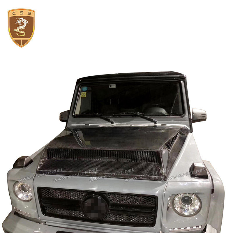 Carbon fiber hood cover Fit For Benz G Class W463 G500 G55 G63 G65 modified G900 B style