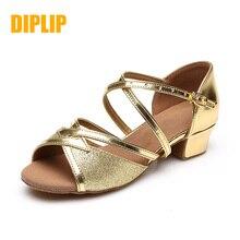 DIPLIP zapatos de baile latino para niña, calzado de salsa, estándar nacional, tango