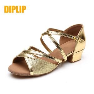 Image 1 - Туфли DIPLIP детские для латиноамериканских танцев, обувь в национальном стиле для сальсы, детские туфли для танго