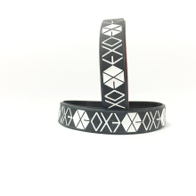 EXO Kpop Korean popular group silicone bracelet wristband For EXO custom jewelry