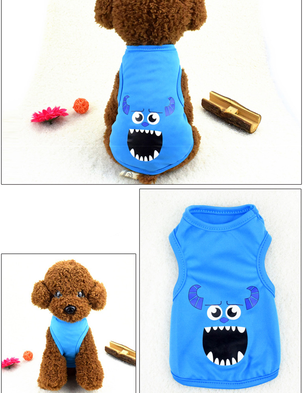 Pet Cat Clothes for Cats Summer Vest T Shirt Dog Cat Clothes Costume for Small Dogs Cartoon Vest for Puppy 35 (25)