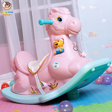 Cute Plastic Animals Rocking Horse Musical Rocking Pony Ride On Cars Rollers Educational toys Gift for Children Baby Infant Kids wooden rocking horse toys child chair kids furniture rocking horse toddler for kid 1 3 years ider ride on horse rocker stool