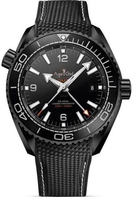 Luxury Brand New Men Automatic Mechanical GMT Blue Black Canvas Leather Ceramic Bezel Orange Professional Stainless Steel Watch