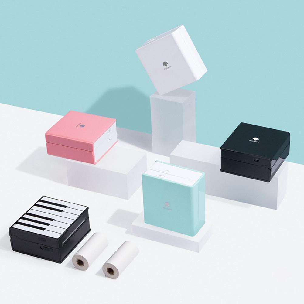 For Phomemo M02 Portable Bluetooth Printer Photo Printer Label Machine Mini Bluetooth Thermal Printer Pocket Sticker Roll Paper