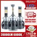 CREE XHP70 SG 20000LM H7 светодиодный лампада с can-bus H4 Автомобильный светодиодный фары для H1 H8 H11 светодиодный светильник 9005 HB3 9006 фары авто противотума...